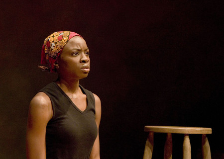 Danai Gurira in 'In the Continuum' at the Kirk Douglas Theatre.