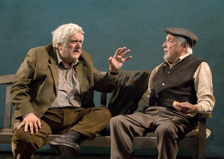 (L-R) Michael Lerner and Harold Gould in 'The Duck Variations.'