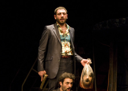 Hrach Titizian (above) and Arian Moayed (seated) in 'Bengal Tiger at the Baghdad Zoo.'