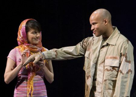Sheila Vand and Glenn Davis in 'Bengal Tiger at the Baghdad Zoo.'