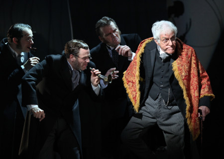 """Actor Dick Van Dyke (star of the original Disney motion picture) makes a guest appearance in the national tour of the Disney and Cameron Mackintosh production of """"Mary Poppins"""" at the Ahmanson Theatre."""