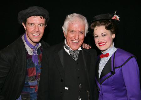 Gavin Lee, Dick Van Dyke, and Ashley Brown at the Ahmanson Theatre