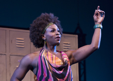"Gregory Haney in the national tour of ""Bring It On: The Musical."""