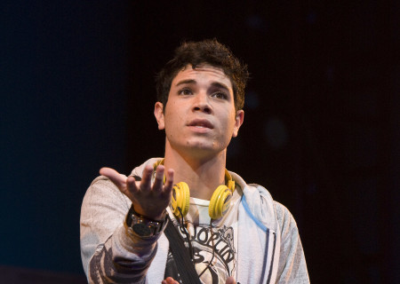 "Jason Gotay in the national tour of ""Bring It On: The Musical."""