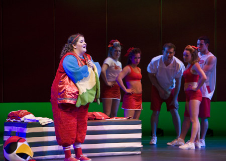 "Ryann Redmond and the cast of the national tour of ""Bring It On: The Musical."""