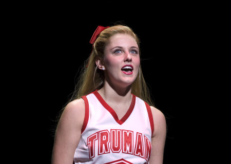 "Taylor Louderman in the national tour of ""Bring It On: The Musical."""