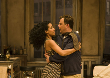 "Zabryna Guevara and Brooks Ashmanskas in Lanford Wilson's ""Burn This"" at the Mark Taper Forum. ""Burn This,"" directed by Nicholas Martin, opens April 3 and continues through May 1, 2011."