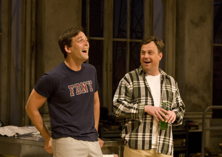 "(L–R) Ken Barnett and Brooks Ashmanskas in Lanford Wilson's ""Burn This"" at the Mark Taper Forum. ""Burn This,"" directed by Nicholas Martin, opens April 3 and continues through May 1, 2011."