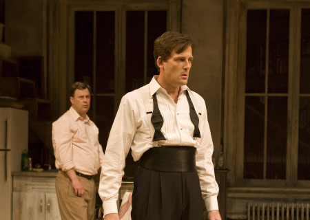 "(L–R) Brooks Ashmanskas and Ken Barnett in Lanford Wilson's ""Burn This"" at the Mark Taper Forum. ""Burn This,"" directed by Nicholas Martin, opens April 3 and continues through May 1, 2011."