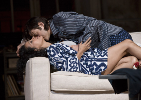 "Zabryna Guevara and Adam Rothenberg in Lanford Wilson's ""Burn This"" at the Mark Taper Forum. ""Burn This,"" directed by Nicholas Martin, opens April 3 and continues through May 1, 2011."