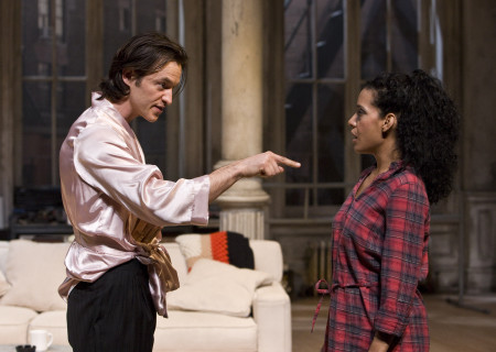 "Adam Rothenberg and Zabryna Guevara in Lanford Wilson's ""Burn This"" at the Mark Taper Forum. ""Burn This,"" directed by Nicholas Martin, opens April 3 and continues through May 1, 2011."