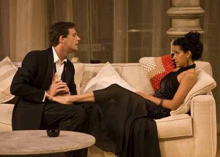 "Ken Barnett and Zabryna Guevara in Lanford Wilson's ""Burn This"" at the Mark Taper Forum. ""Burn This,"" directed by Nicholas Martin, opens April 3 and continues through May 1, 2011."
