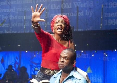 "Sahr Ngaujah and Paulette Ivory in ""Fela!"""