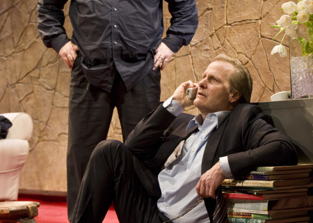 (L-R) James Gandolfini and Jeff Daniels in 'God of Carnage.'