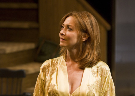 "Sharon Lawrence in the world premiere of Theresa Rebeck's ""Poor Behavior"" at the Mark Taper Forum. ""Poor Behavior,"" directed by Doug Hughes, opens September 18 and continues through October 16, 2011."