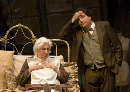 "(L–R) Olympia Dukakis and Marco Barricelli in the American Conservatory Theater production of ""Vigil"" at the Mark Taper Forum, opening November 6 and continuing through December 18, 2011. ""Vigil"" is written and directed by Morris Panych."