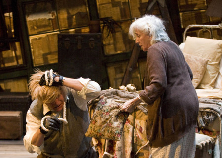 "(L–R) Marco Barricelli and Olympia Dukakis in the American Conservatory Theater production of ""Vigil"" at the Mark Taper Forum, opening November 6 and continuing through December 18, 2011. ""Vigil"" is written and directed by Morris Panych."