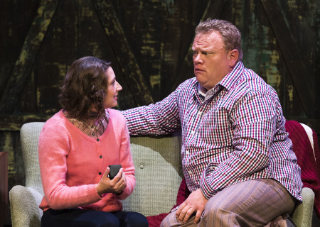 "Amanda Blake Davis and Larry Joe Campbell in The Second City's ""A Christmas Carol: Twist Your Dickens!"" at the Douglas."
