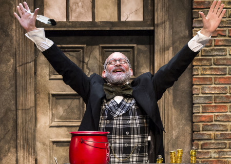 "Ron West in The Second City's ""A Christmas Carol: Twist Your Dickens!"" at the Douglas."