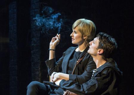 "Leanne Best (as Astrid Kirchherr) and Domonic Rouse (Klaus Voormann) in ""Backbeat."""