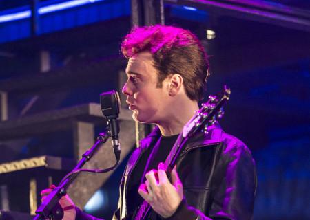 """Dan Healy as Paul McCartney in """"Backbeat."""""""