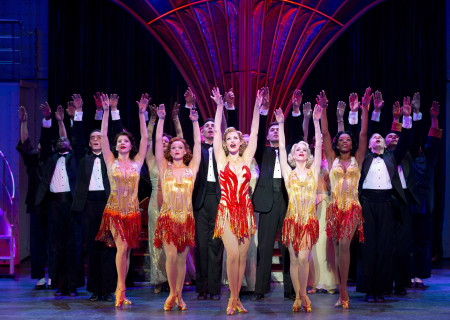 "Rachel York and the cast of Roundabout Theatre Company's ""Anything Goes."""