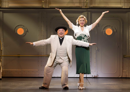 "Fred Applegate and Rachel York in the Roundabout Theatre Company's ""Anything Goes."""