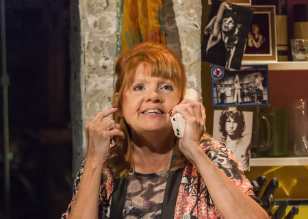 "Annie Golden in the World premiere of ""The Black Suits"" at the Kirk Douglas Theatre."