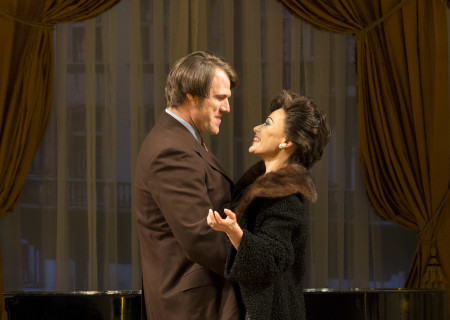 """Erik Heger and Tracie Bennett in """"End of the Rainbow."""""""