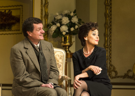 """Michael Cumpsty and Tracie Bennett in """"End of the Rainbow."""""""