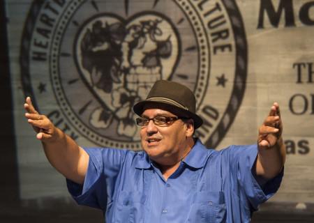 "Luis Alfaro in ""St. Jude"" at the Kirk Douglas Theatre."