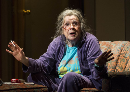 """Marylouise Burke in """"A Parallelogram"""" at the Taper."""