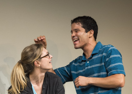 """Marin Ireland and Carlo Alban in """"A Parallelogram"""" at the Taper."""