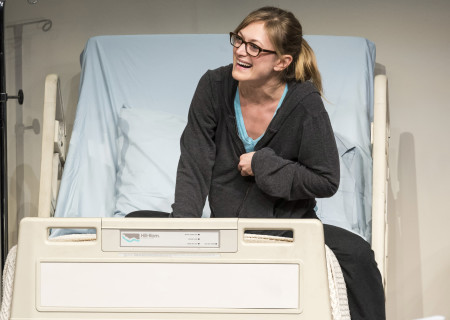 """Marin Ireland in """"A Parallelogram"""" at the Taper."""