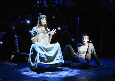 """Megan Stern and Joey deBettencourt in """"Peter and the Starcatcher."""""""