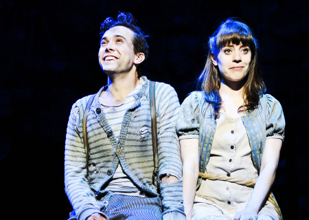 """Joey deBettencourt and Megan Stern in """"Peter and the Starcatcher."""""""