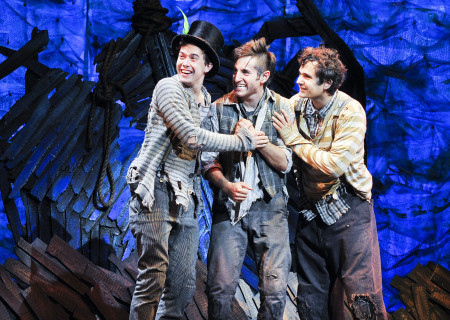 """(L–R) Joey deBettencourt, Carl Howell, and Edward Tournier in """"Peter and the Starcatcher."""""""