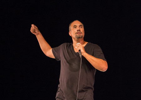 """Roger Guenveur Smith, who has written and performs in """"Rodney King"""" at the Kirk Douglas Theatre."""