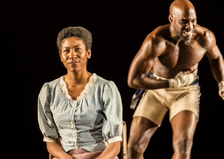 """Diarra Oni Kilpatrick and David St. Louis in the World premiere of """"The Royale."""""""