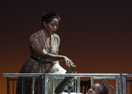 """(L–R) C. Kelly Wright and Joshua Henry in Kander and Ebb's """"The Scottsboro Boys."""""""