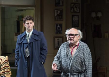 (L–R) Justin Bartha and Danny DeVito in Neil Simon's 'The Sunshine Boys' at the Ahmanson Theatre.