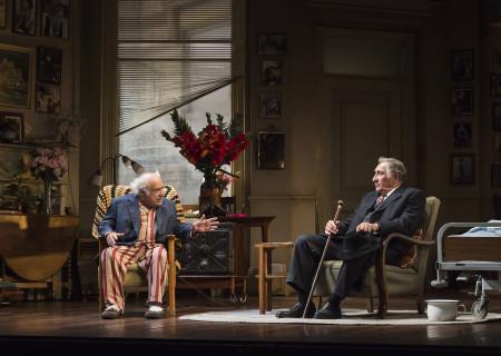"""(L–R) Danny DeVito and Judd Hirsch in Neil Simon's """"The Sunshine Boys"""" at the Ahmanson Theatre."""
