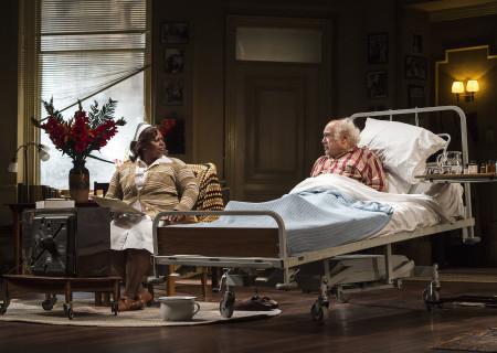"""Johnnie Fiori and Danny DeVito in Neil Simon's """"The Sunshine Boys"""" at the Ahmanson Theatre."""
