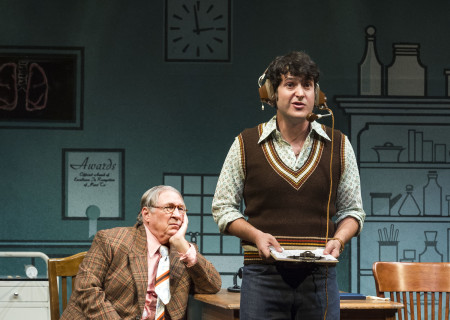 """(L–R) Gibby Brand and Matthew Bohrer in Neil Simon's """"The Sunshine Boys"""" at the Ahmanson Theatre."""