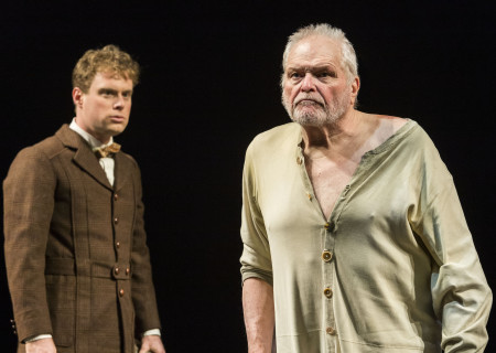 "(L–R) Dylan Saunders and Brian Dennehy in Sebastian Barry's ""The Steward of Christendom"" at the Mark Taper Forum."