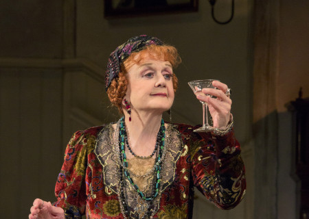 Angela Lansbury in the North American tour of Noël Coward's 'Blithe Spirit' at the Ahmanson Theatre.