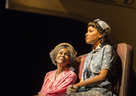 (L–R) Cicely Tyson and Jurnee Smollett-Bell in the critically acclaimed, Tony-nominated Broadway revival of Horton Foote's American masterpiece 'The Trip to Bountiful' at the Ahmanson Theatre.