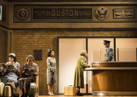 (L–R) Jurnee Smollett-Bell, Pat Bowie, Keiana Richàrd, Cicely Tyson and Devon Abner in the critically acclaimed, Tony-nominated Broadway revival of Horton Foote's American masterpiece 'The Trip to Bountiful' at the Ahmanson Theatre.