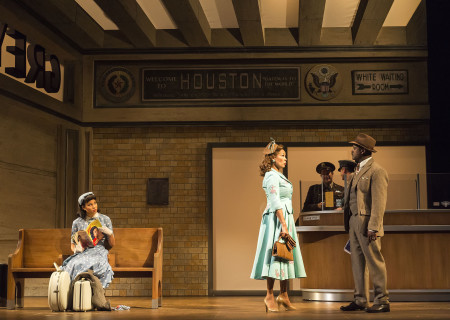 (L–R) Jurnee Smollett-Bell, Vanessa Williams, (Russell Edge and Wade Dooley in background) and Blair Underwood in the critically acclaimed, Tony-nominated Broadway revival of Horton Foote's American masterpiece 'The Trip to Bountiful' at the Ahmanson Theatre.