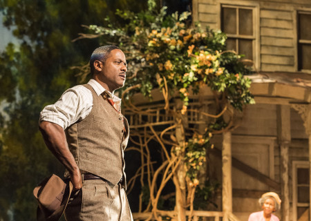 Blair Underwood and Cicely Tyson (background) in the critically acclaimed, Tony-nominated Broadway revival of Horton Foote's American masterpiece 'The Trip to Bountiful' at the Ahmanson Theatre.
